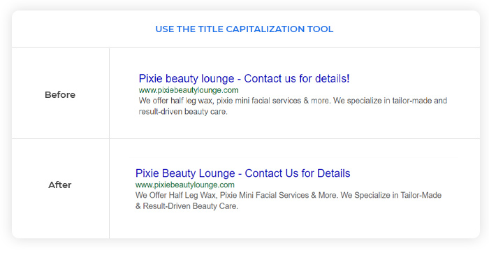 Title Capitalization Tool - Before/After Comparison