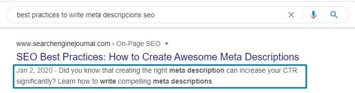 Best practices to write meta descriptions SEO