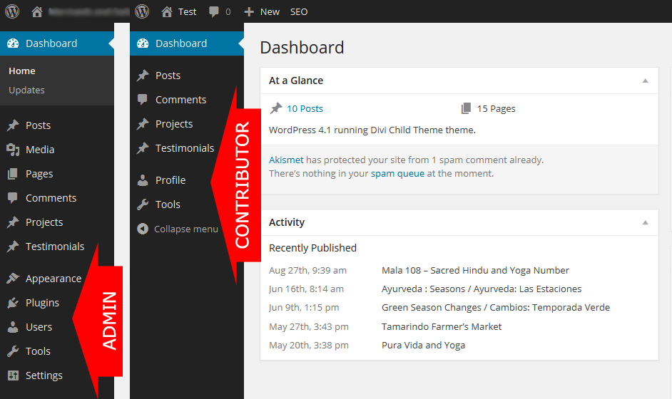 WordPress dashboard - White Shark Media Blog