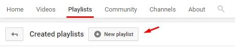 Add New Playlist to YouTube