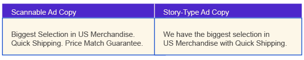 Scannable vs. Story-type Ad Copy - White Shark Media Blog