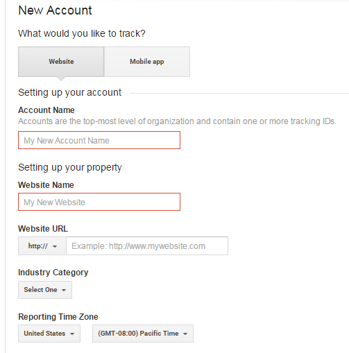 google analytics setup 1