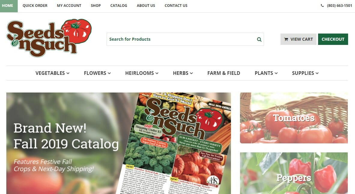 Seeds 'N Such Home Page