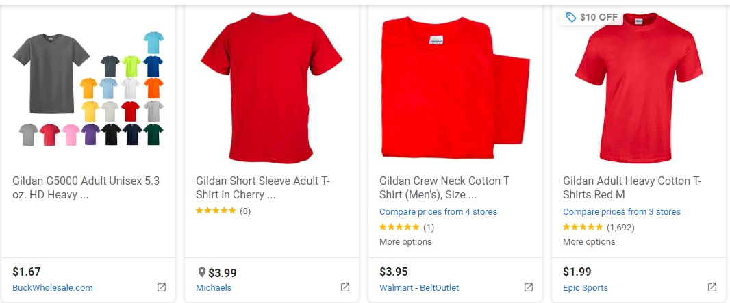 Google Shopping -Product Images