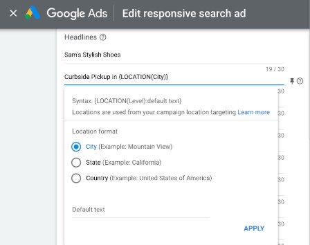 Edit Responsive Google Search Ad