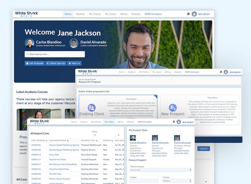 White Shark Media Partner Portal
