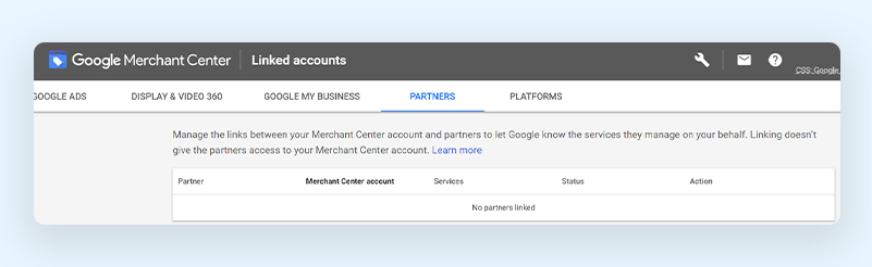 Link Google and Third Party Platforms to Google Merchant Center
