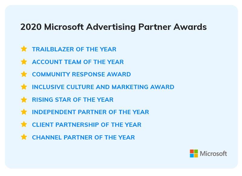 2021 Microsoft Advertising Partner Awards