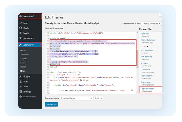 Installing Google Analytics on WordPress