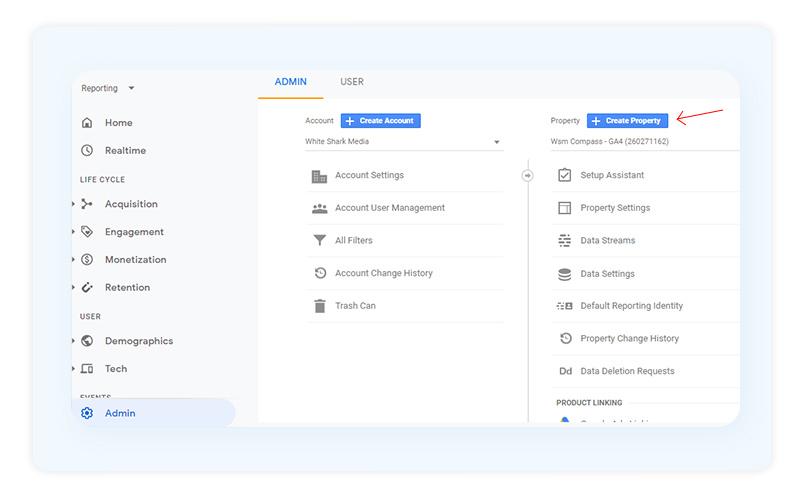 Creating Property Google Analytics 4