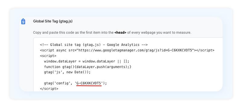 Global Site Tag Google Analytics 4