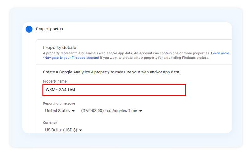 Property Name Google Analytics 4