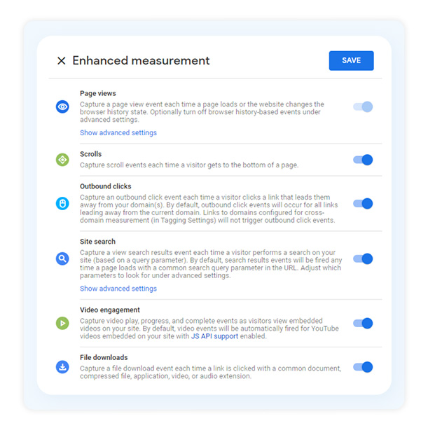 Enhanced Measurement Google Analytics 4