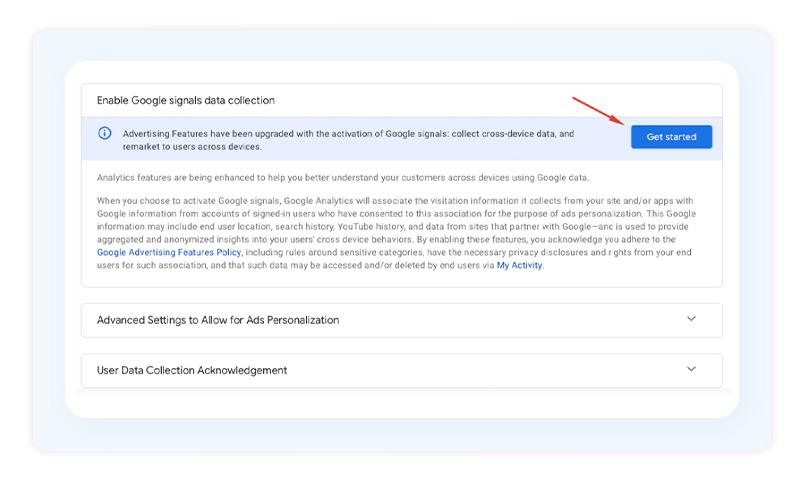 GA4 Google Signal Data Collection