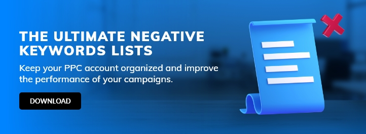 Negative Keywords ultimate list