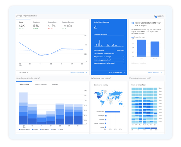 Google Analytics insights